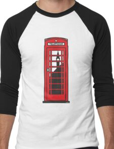 Red telephone box Men's Baseball ¾ T-Shirt