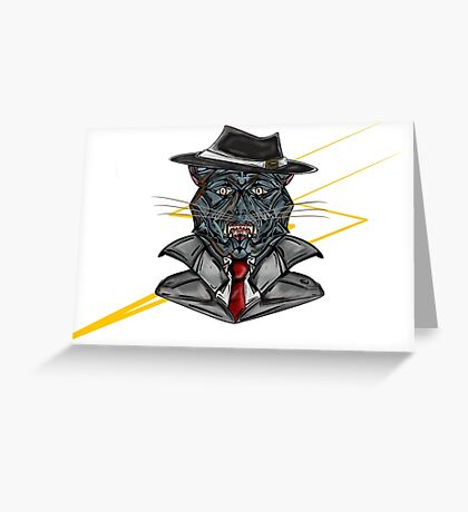 Corporate Cat Greeting Card