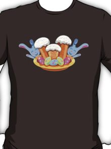 easter cakes with bunny and eggs T-Shirt