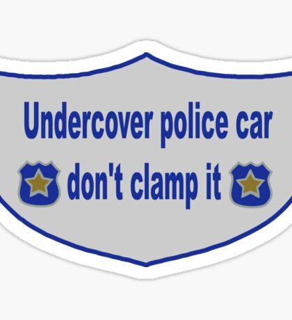 Undercover Police Car Sticker Sticker