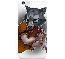 Trick or Treaters - Wolf at the Door iPhone Case/Skin