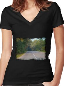 Rural Road Women's Fitted V-Neck T-Shirt
