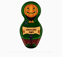Halloween pumpkin with the poster in hands in style of a nested doll Unisex T-Shirt