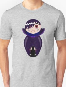 Nested doll in Dracula's suit in a violet raincoat Unisex T-Shirt