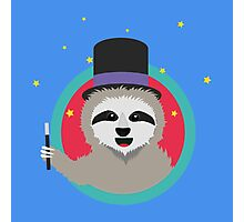 Magican Sloth with wand Photographic Print