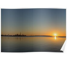 Bright and Early - Toronto Morning with a Terrific Sunrise Poster