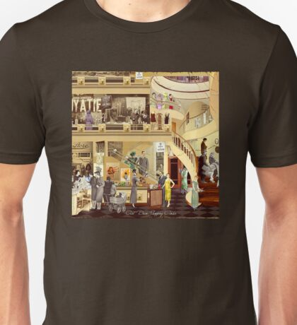 Art Deco Shopping Center (Boosted Color) Unisex T-Shirt