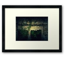 Vintage Abandoned House Framed Print