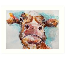 Stroppy Cow Art Print