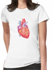 polygonal human heart illustration Womens Fitted T-Shirt