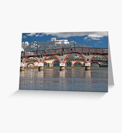 Double Bridges Greeting Card