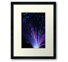 Fibre Optic Lights & Bokeh (#9740) Framed Print
