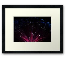 Fibre Optic Lights & Bokeh (#9746) Framed Print