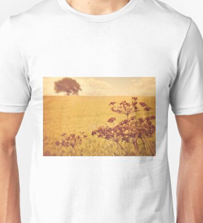 By the side of the wheat field. Unisex T-Shirt