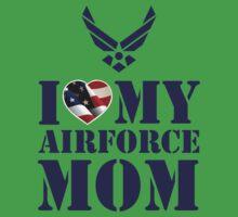 I LOVE MY AIRFORCE MOM Kids Tee