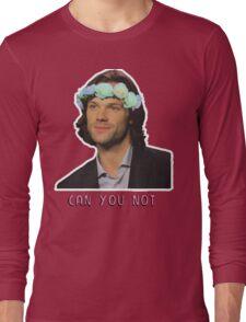 can u not // jared padalecki Long Sleeve T-Shirt
