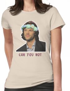 can u not // jared padalecki Womens Fitted T-Shirt