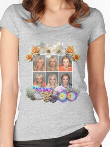 Lilo Mugshot *crying* Women's Fitted Scoop T-Shirt