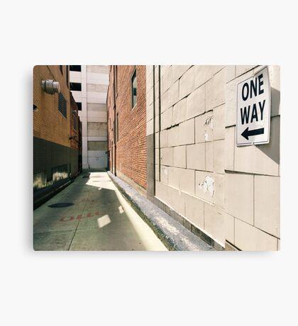 One Way Canvas Print