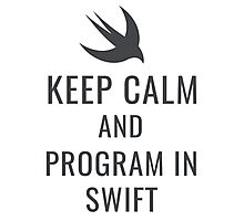 Keep Calm & Program In Swift Photographic Print