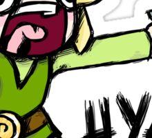 Toon Link- HYAH! Sticker