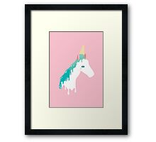 Horse by Day, Unicorn by Ice Cream Framed Print