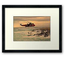 Royal Navy Rescue  Framed Print