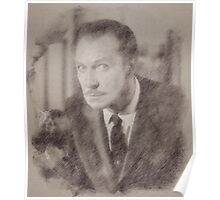 Vincent Price Hollywood Actor Poster