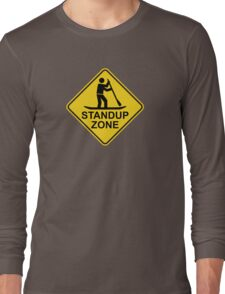 Standup Paddleboarding Zone Road Sign Long Sleeve T-Shirt