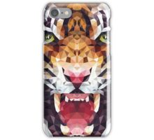 polygonal tiger illustration iPhone Case/Skin