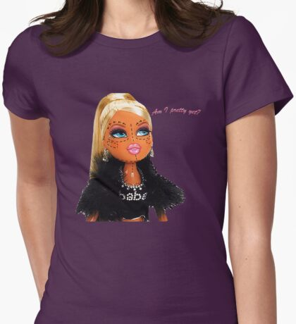 Plastic Surgery Bratz Doll Womens Fitted T-Shirt