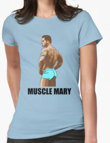 Muscle Mary Womens Fitted T-Shirt