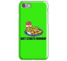 Diet Starts Monday iPhone Case/Skin