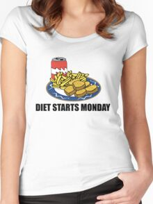 Diet Starts Monday Women's Fitted Scoop T-Shirt
