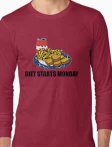 Diet Starts Monday Long Sleeve T-Shirt