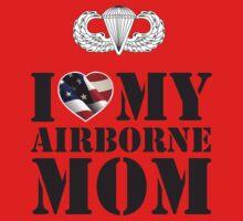 I LOVE MY AIRBORNE MOM One Piece - Long Sleeve