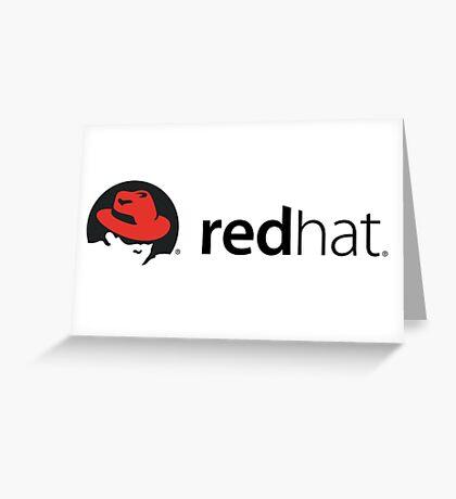 Redhat LINUX Greeting Card