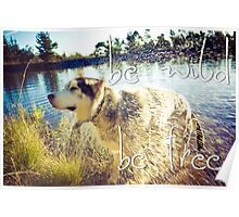 Be wild, be free! Poster