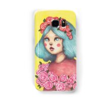 Adorned - Girl with Floral Crown Samsung Galaxy Case/Skin