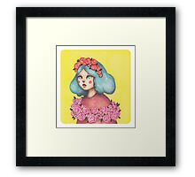 Adorned - Girl with Floral Crown Framed Print