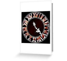 Final Hours (red) Greeting Card