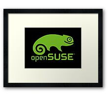 openSUSE LINUX Framed Print