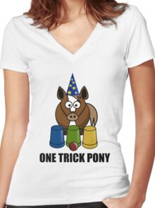One Trick Pony Women's Fitted V-Neck T-Shirt