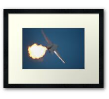 An Old Flame Says Goodbye, Williamtown 2010 Framed Print