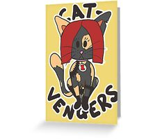 Cat Widow Greeting Card