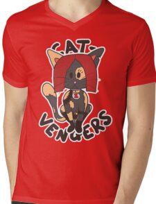 Cat Widow Mens V-Neck T-Shirt