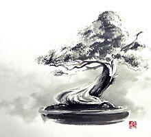 Bonsai tree artwork, japanese home decor by Mariusz Szmerdt