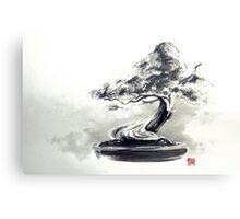 Bonsai tree artwork, japanese home decor Canvas Print