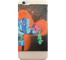 "Robot Toxic Waste Spill Canvas 16"" x 20""  iPhone Case/Skin"