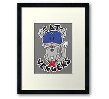 Cap' Cat Framed Print